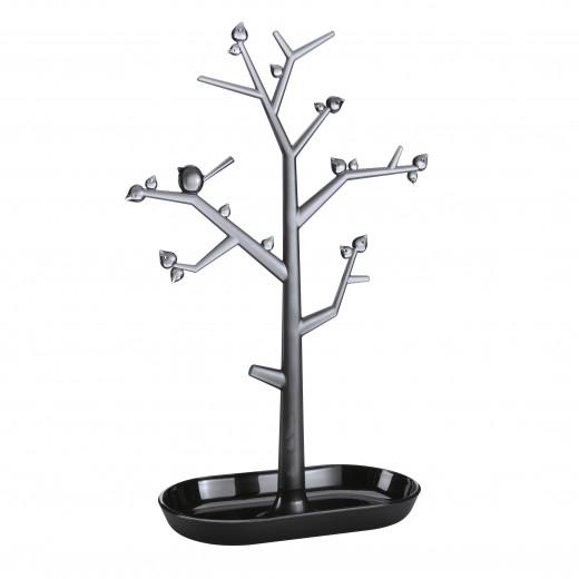 Suport pentru bijuterii din termoplastic Trinket Tree II Negru, l27,6xA12,8xH43,8 cm