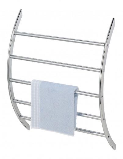 Suport pentru prosoape de baie, din metal, U-Shaped Crom, l56xA17xH67 cm