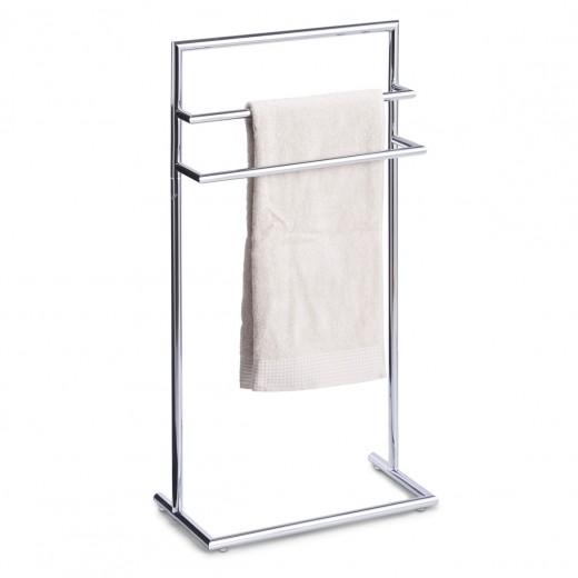 Suport pentru prosoape de baie, Metal Cromat, l43,5xA23xH83 cm
