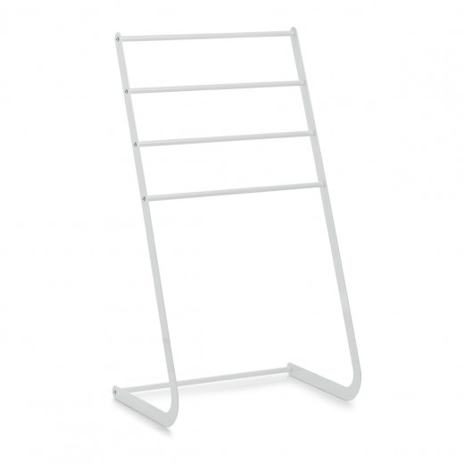 Suport pentru prosoape de baie, Stand Metal White, l46xA31,5xH82 cm
