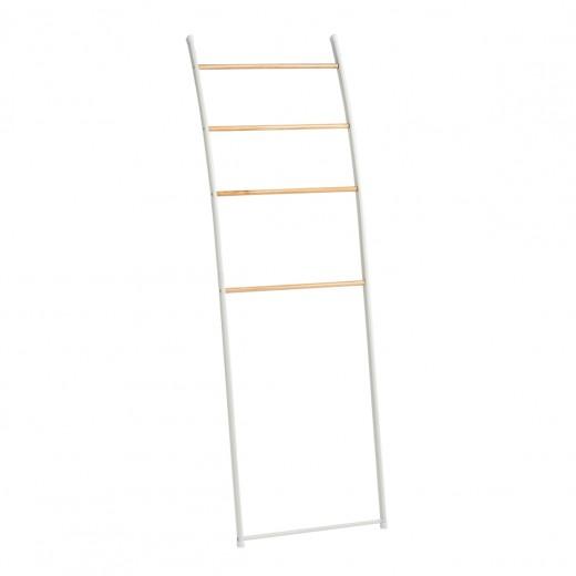 Suport pentru prosoape de baie, Vertical, Metal White, l48xA12xH154 cm