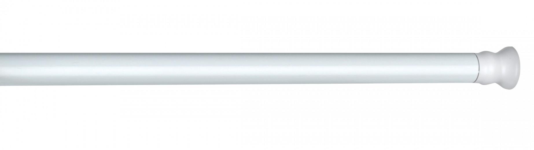 Suport telescopic pentru perdea dus, din aluminiu, Angle Alb, Ø2,8 cm, L110-245 cm