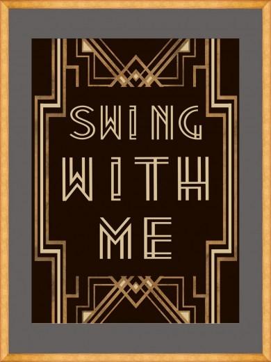 Tablou Framed Art Swing With Me I