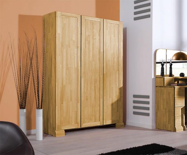 Dulap din lemn masiv de stejar Seti 650 3D, l135xA65xH190 cm