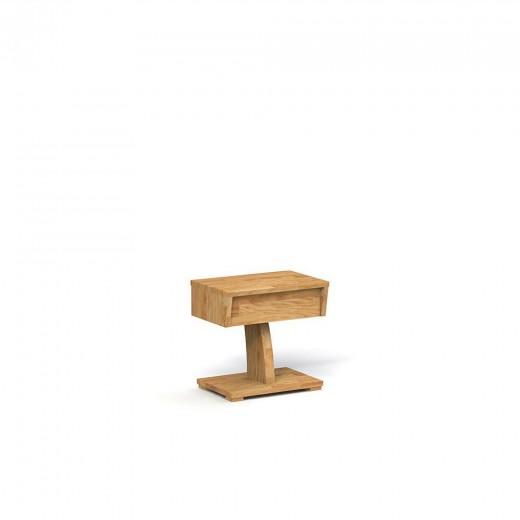 Noptiera din lemn masiv de stejar Baron natural, l45xA30xH43 cm
