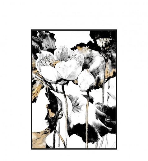 Tablou Canvas Creta Two Flowers, 80 x 120 cm