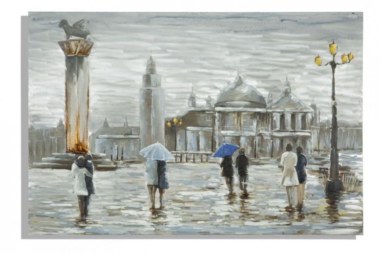 Tablou pictat manual Old City, 120 x 80 cm
