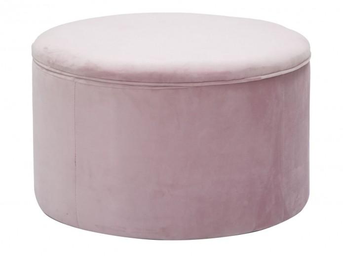Taburet tapitat cu stofa, cu spatiu de depozitare Scarpe Roz, Ø71xH41 cm