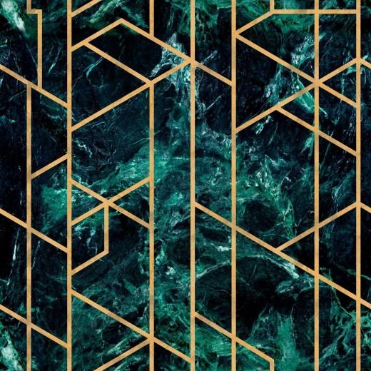 Tapet Imprimat Digital GRAMERCY Emerald