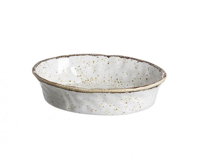 Set tavi ceramice ovale Amentea, 25x18 cm, 4 piese