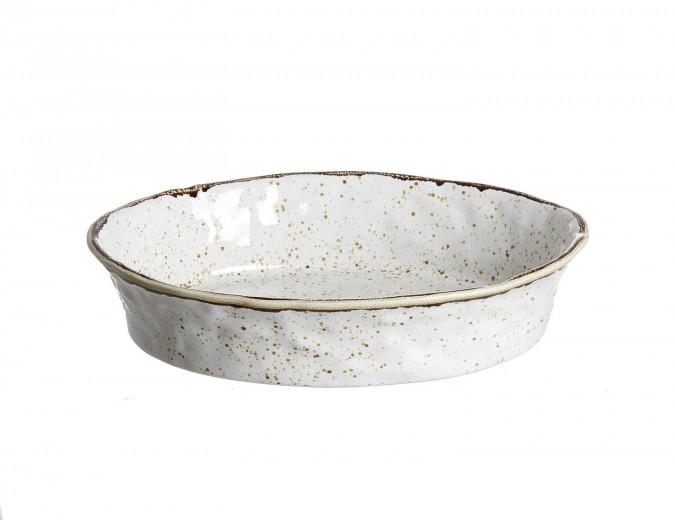Set tavi ceramice ovale Amentea, 30x22 cm, 2 piese