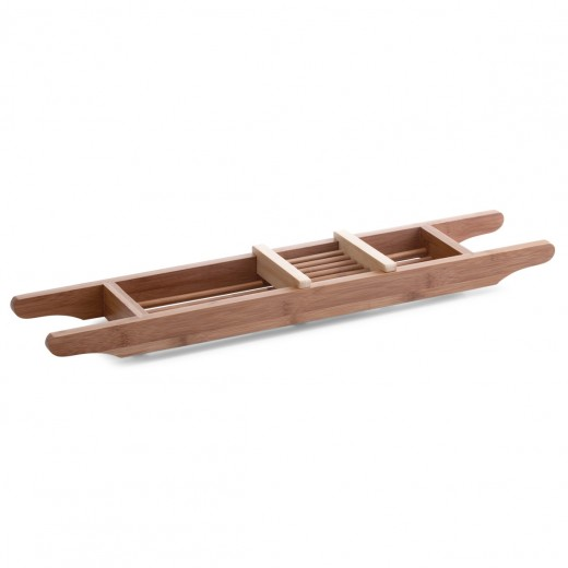 Tava pentru cada cu compartiment mobil, Natural Bamboo, l70xA14,5xH5,5 cm