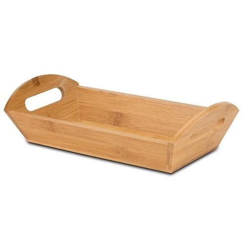 Tava pentru servire din lemn cu maner Terrestrial Natural, L29xl14,5xH8 cm
