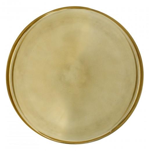 Tava Tray Aluminum Gold, Ø50xh2.5 cm