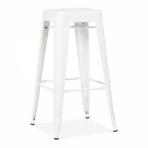 Scaun de bar din metal Ties White, l31xA31xH76 cm