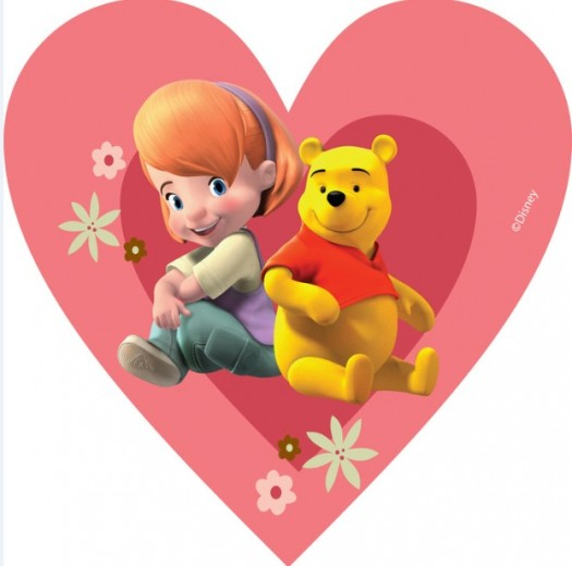 Covor Kids Tigger & Pooh Heart 603, Imprimat Digital