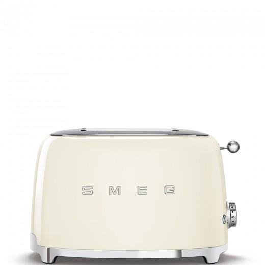 Toaster 2 sloturi TSF01CREU, Crem, Retro 50, SMEG