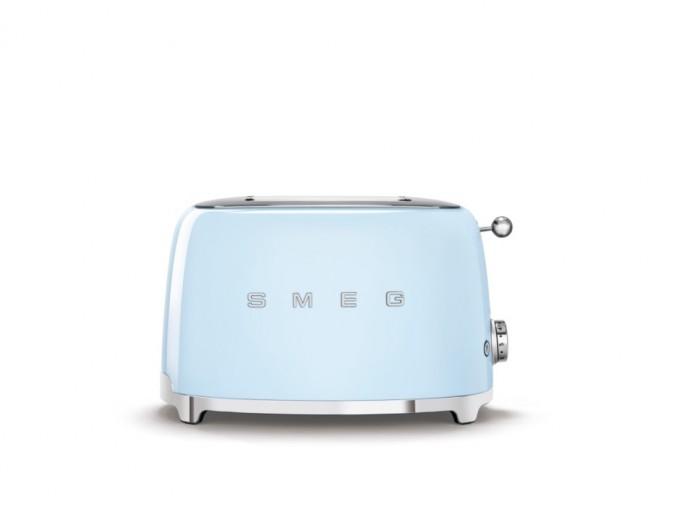 Toaster 2 sloturi TSF01PBEU, Albastru pastel, Retro 50, SMEG