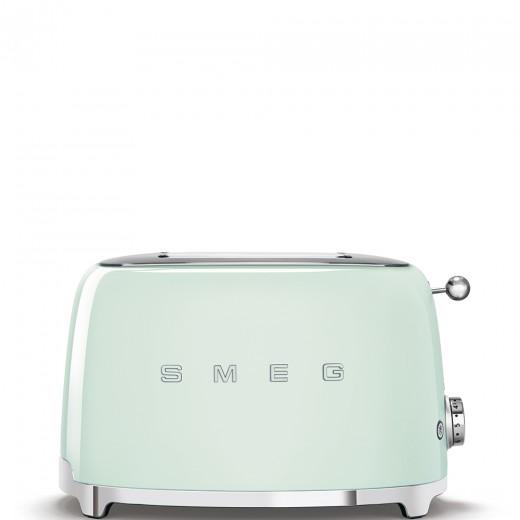 Toaster 2 sloturi TSF01PGEU, Verde pastel, Retro 50, SMEG