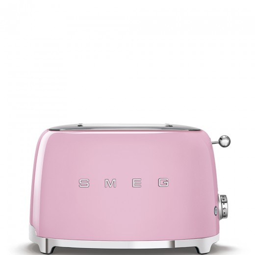 Toaster 2 sloturi TSF01PKEU, Roz, Retro 50, SMEG