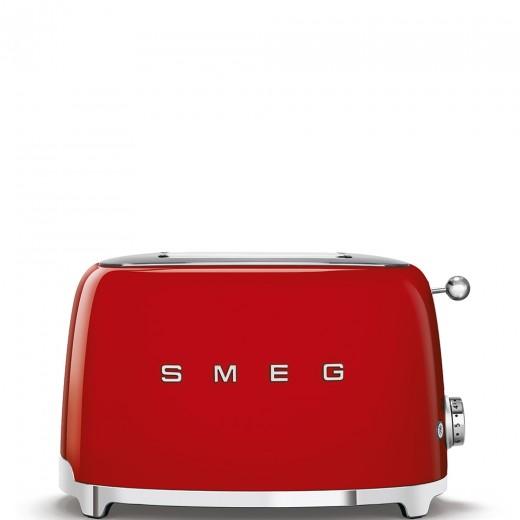 Toaster 2 sloturi TSF01RDEU, Rosu, Retro 50, SMEG
