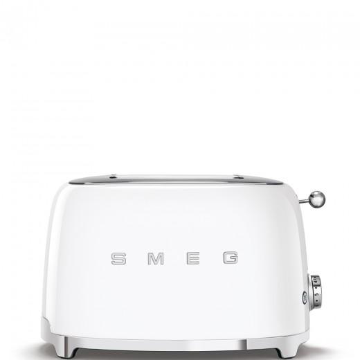 Toaster 2 sloturi TSF01WHEU, Alb, Retro 50, SMEG