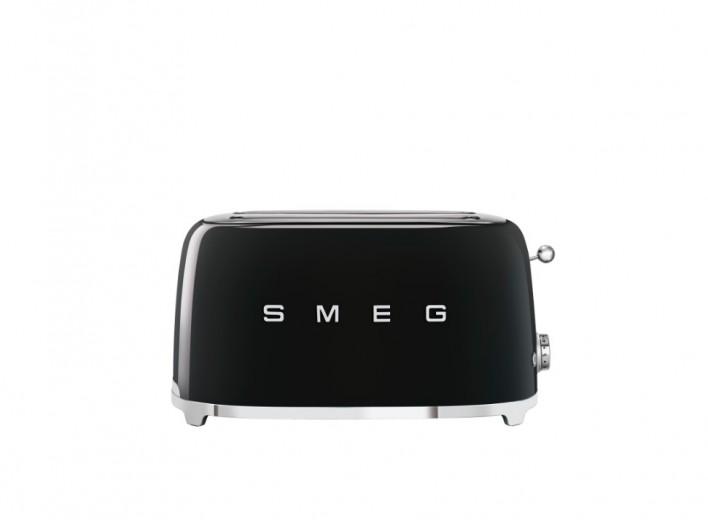 Toaster 2 sloturi TSF02BLEU, Negru, Retro 50, SMEG