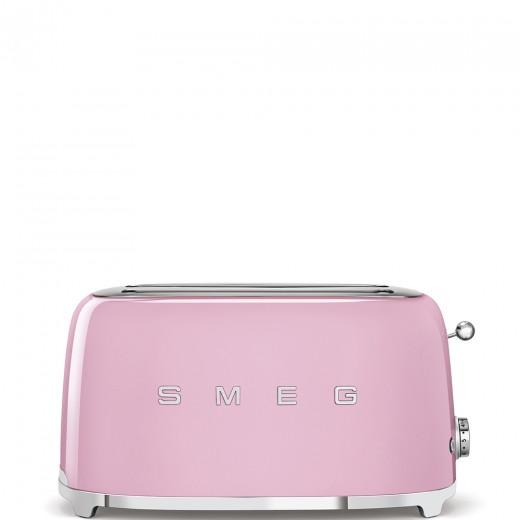 Toaster 2 sloturi TSF02PKEU, Roz, Retro 50, SMEG