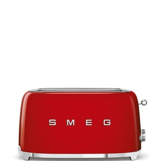 Toaster 2 sloturi TSF02RDEU, Rosu, Retro 50, SMEG