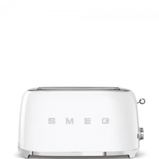 Toaster 2 sloturi TSF02WHEU, Alb, Retro 50, SMEG