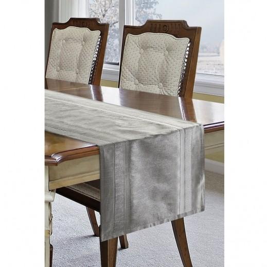 Traversa masa Risa 40x140 cm Argintiu