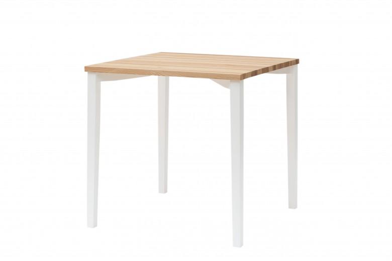 Masa din lemn de frasin Triventi Natural / White, L80xl80xh75 cm