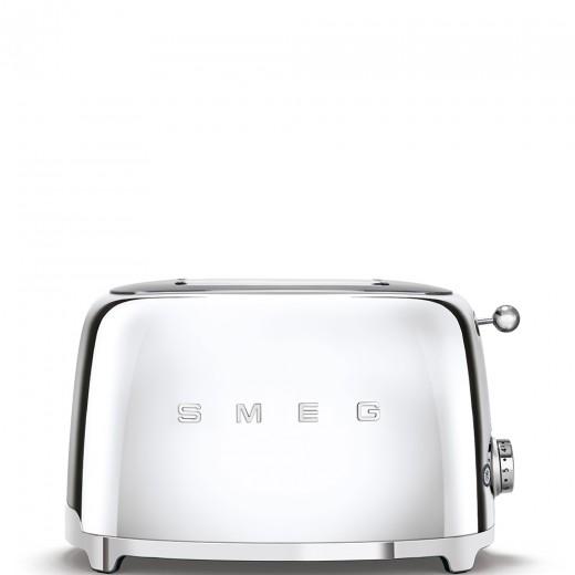 Toaster 2 sloturi TSF01SSEU, Cromat, Retro 50, SMEG