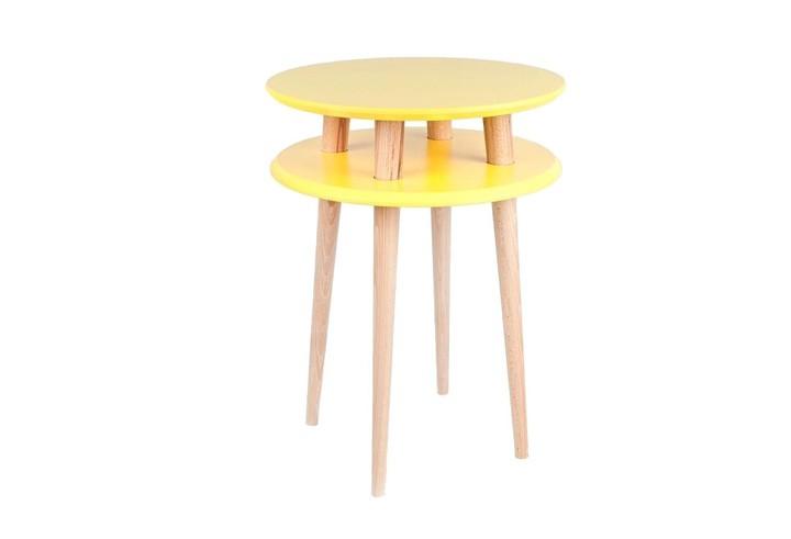 Masa de cafea Ufo High Yellow, Ø45xh61 cm