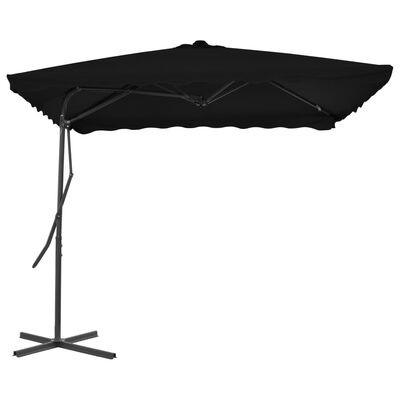 Umbrela de soare suspendata, Ella Negru, L250xl250xH230 cm