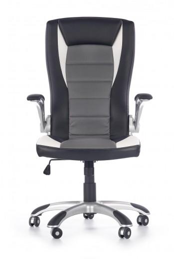 Scaun de birou ergonomic tapitat cu piele ecologica Upset Black / Grey / White, l66xA70xH115-125 cm