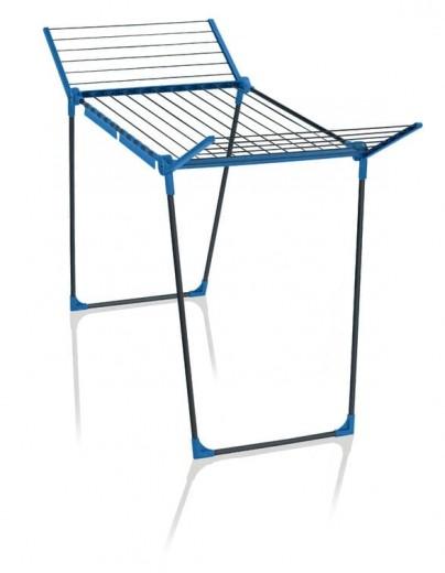 Uscator rufe pliabil, cadru metalic, Pegasus 180 Antracit / Albastru, 18 m