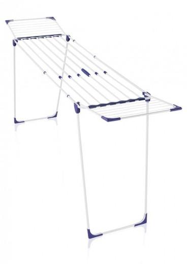 Uscator rufe pliabil si extensibil, cadru metalic, Classic Extendable 230 Alb / Albastru, 23 m