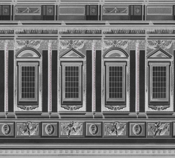 Set 3 role Tapet Imprimat Digital Vaticano Anthracite