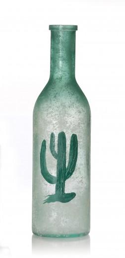 Vaza Arizona Kaktus, Sticla, Ø15xH52 cm