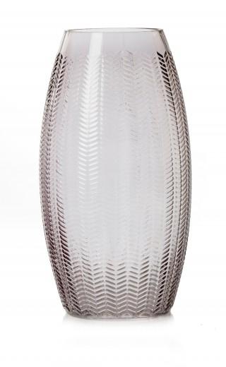 Vaza Boa Anthracite, Sticla, Ø17xH31 cm