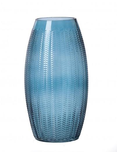 Vaza Boa Blue, Sticla, Ø14xH26 cm