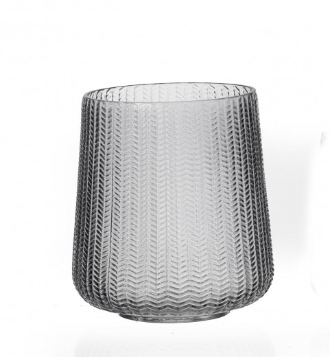 Vaza Boa Huricane Anthracite, Sticla, Ø17xH20 cm