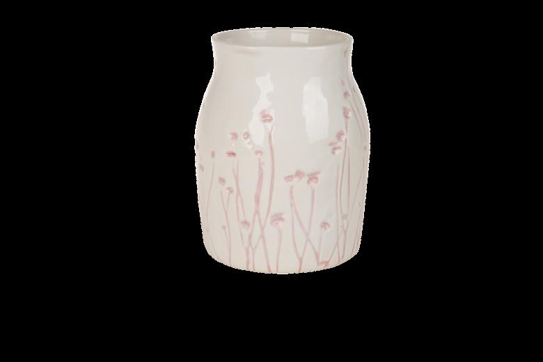 Vaza ceramica Atmosphere White / Misty Rose, Ø 13 cm