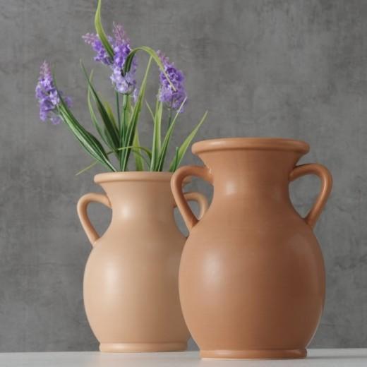 Vaza decorativa din ceramica Samra Maro, Modele Asortate, Ø14xH18 cm