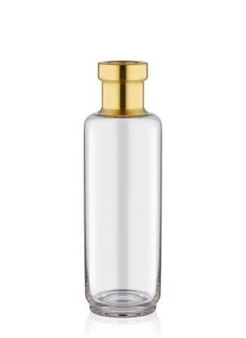 Vaza decorativa din sticla Diamond Big Auriu, Ø9xH29 cm
