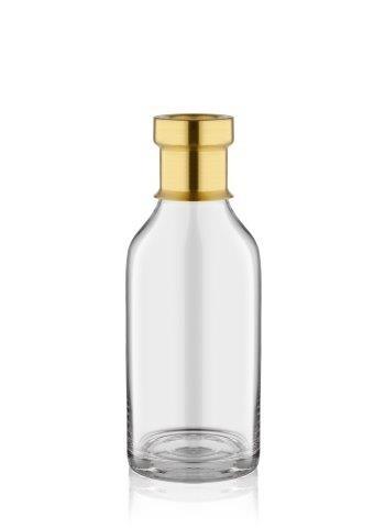 Vaza decorativa din sticla Diamond Medium Auriu, Ø11xH25 cm