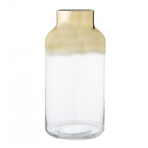 Vaza din sticla Gold, Ø16xH35 cm