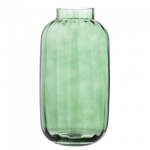 Vaza din sticla Green, Ø16xH32 cm