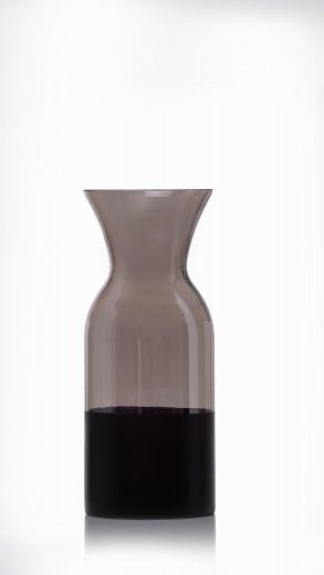 Vaza Faila Grey, Sticla, Ø11xH26 cm